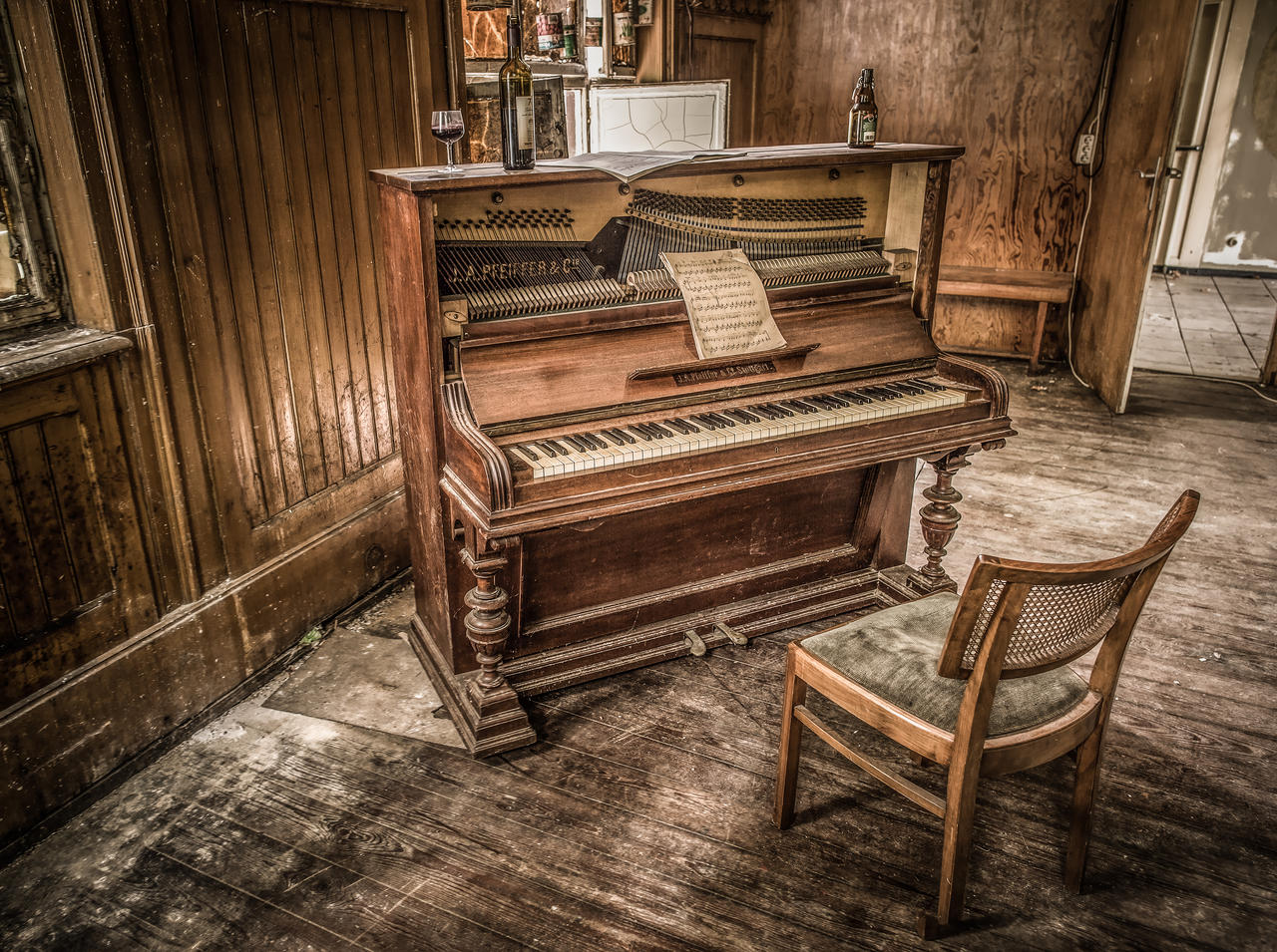 The Old Piano by wulfman65
