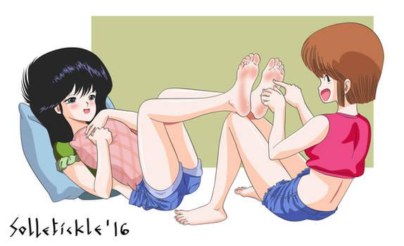 Madoka tickled by Hikaru