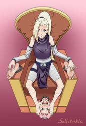 Commission: Sakura tickled by Ino