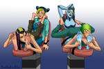 Commission: Jolyne and Stone Free tickled