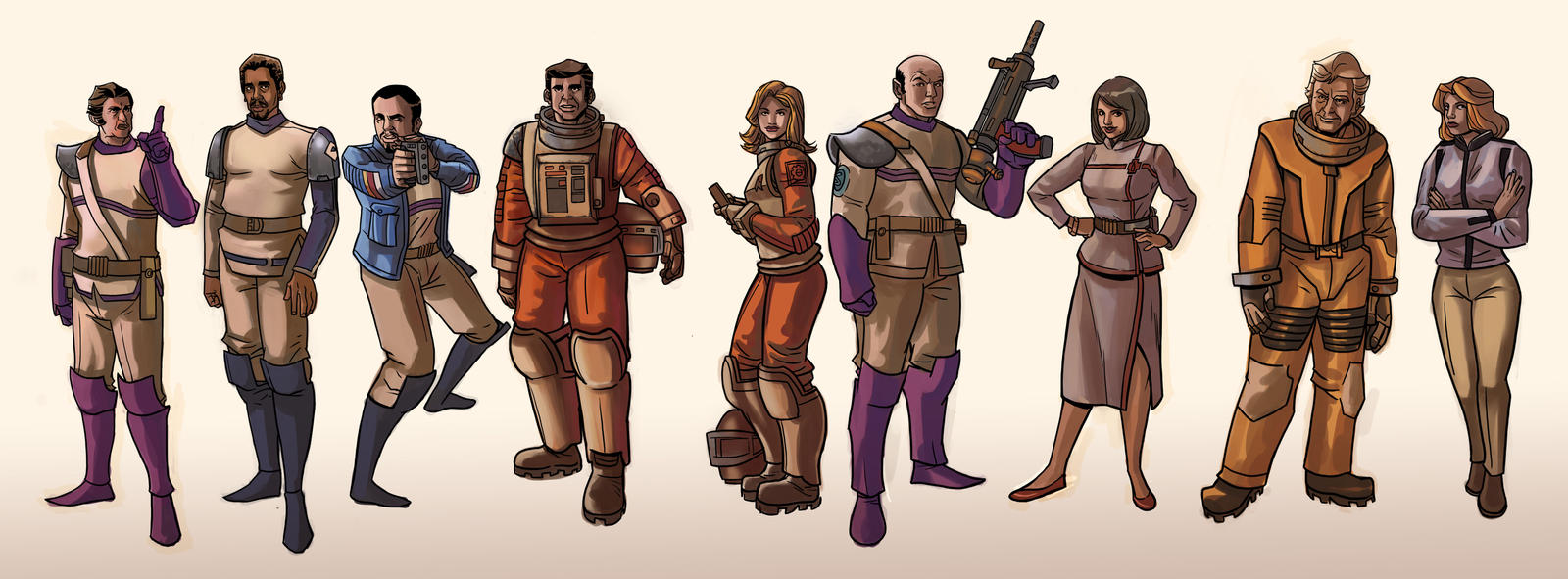space 1999 characters by davidhueso on deviantart