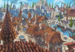 Medieval city concept