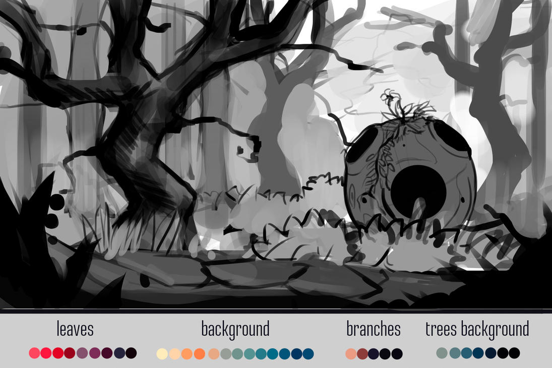 LEARNING HOW TO DRAW THAT 2D ENVIRONMENT CONCEPTS by Feelth