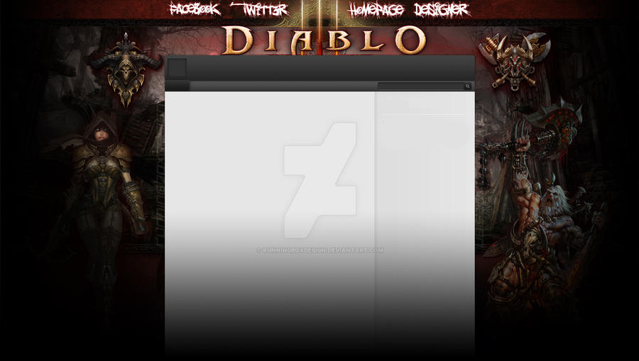 FREE! Diablo III youtube Design by Runningboxdesign