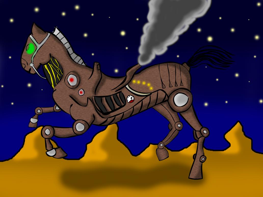 Steampunk Horse by AdamTheJoker