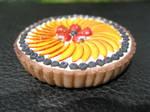 polymer clay fruit tart