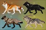 Semi-Realistic Wolf Designs - CLOSED