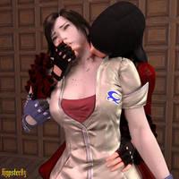 Lili Vampire bite Asuka by Hypster83