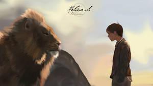 Aslan and Edmund - Narnia