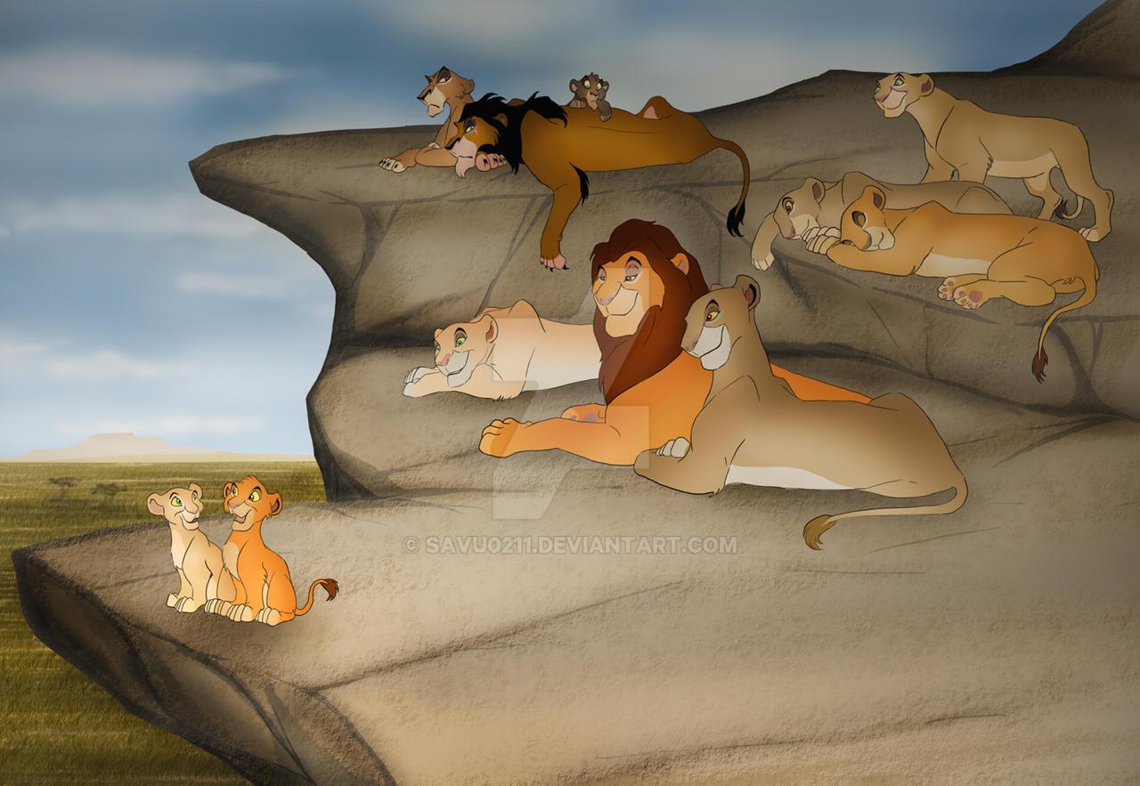 lions of priderock by savu0211 on deviantart