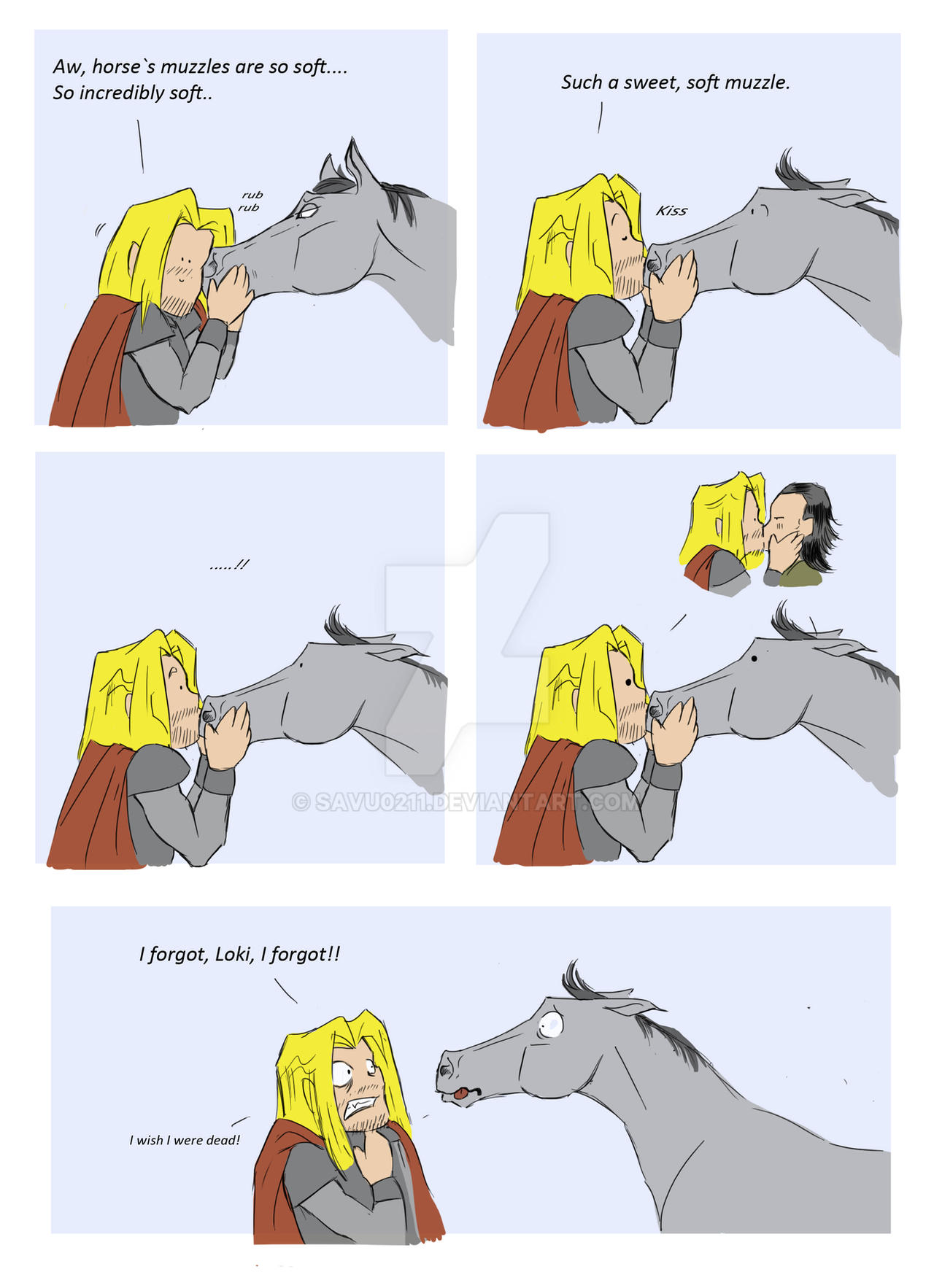 Forgetful Thor by Savu0211