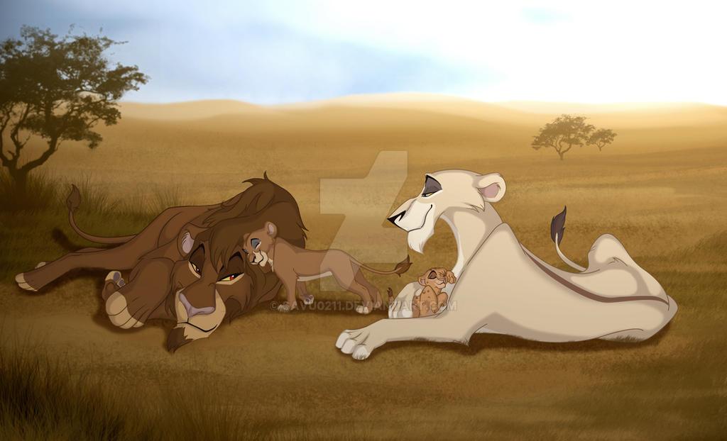 Commission Zira and Family by Savu0211