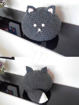 huge crochet cat