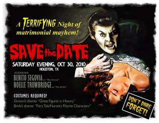 Halloween Wedding: Save the Da by redgiant