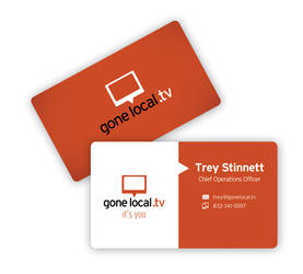 GoneLocal.tv Business Card by redgiant