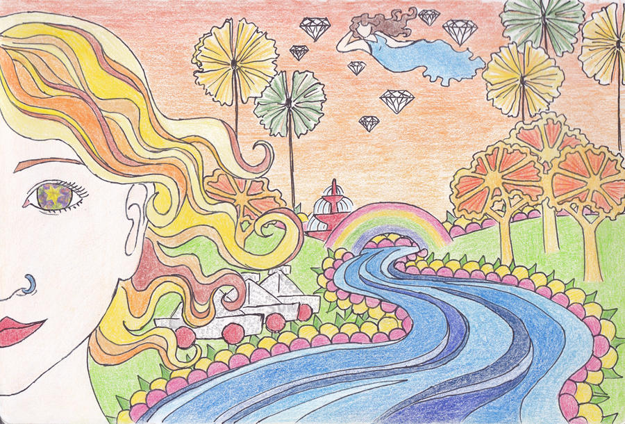 lucy in the sky with diamonds by dragongirlhellfire on