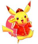 Chinese pikachu of prosperity