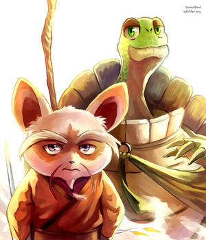 Shifu and Master Oogway