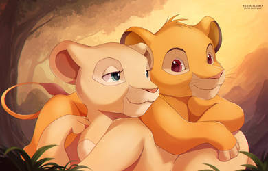 The Lion couple by Vermeilbird