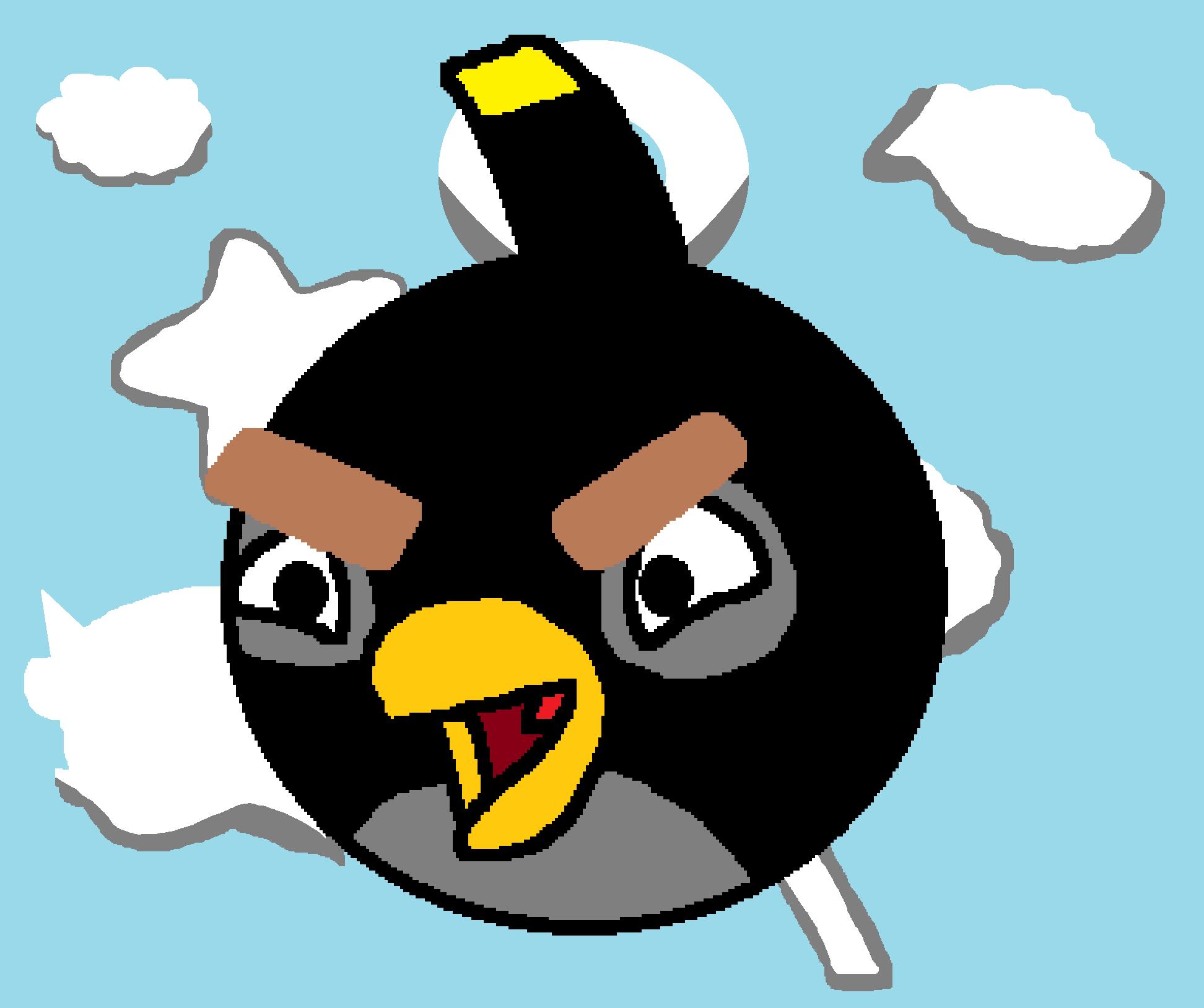 Angry Bird Black Wallpaper
