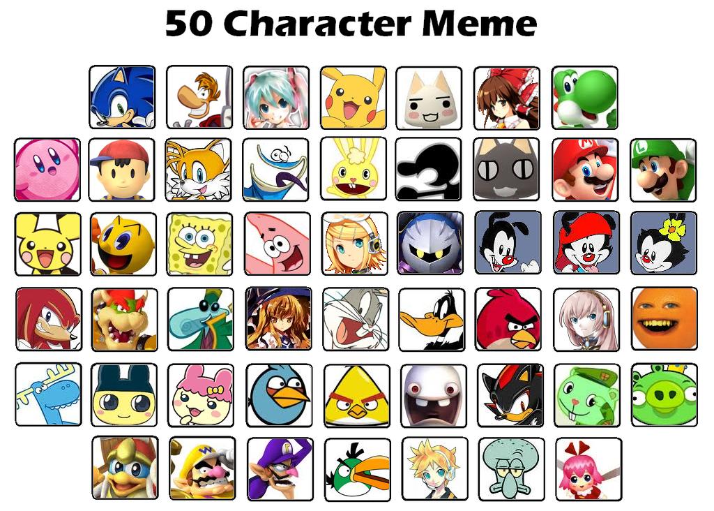 Cartoon Characters Memes : Characters meme by sonicsmash on deviantart