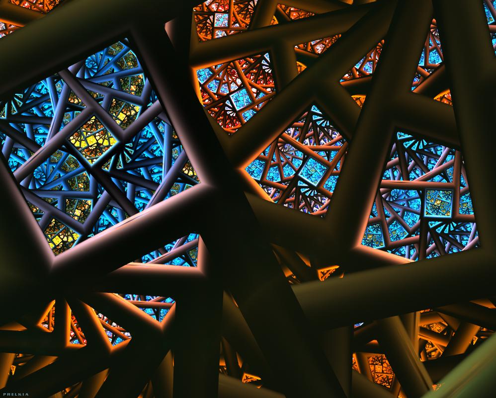 A piece of Sky on Metal Jungle by Prelkia