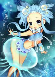 jelly fish girl by VeggieStudio
