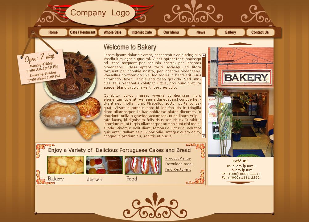 Bakery Product : Bakery Websites