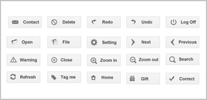 Google Plus Styled Buttons Ico