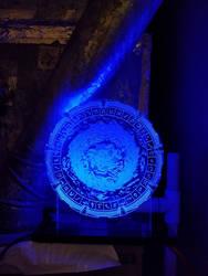 Stargate edge-lit LED sign