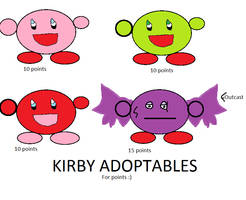 Cheap Kirby adopt!! (Clearance sale, 3 pts each) by SonicLover1523