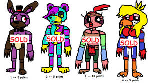 Fnaf adopts!! Cheap -- Batch 1 (Closed) by SonicLover1523