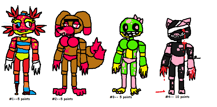 Fnaf adopts!! Cheap -- Batch 2 (Closed) by SonicLover1523