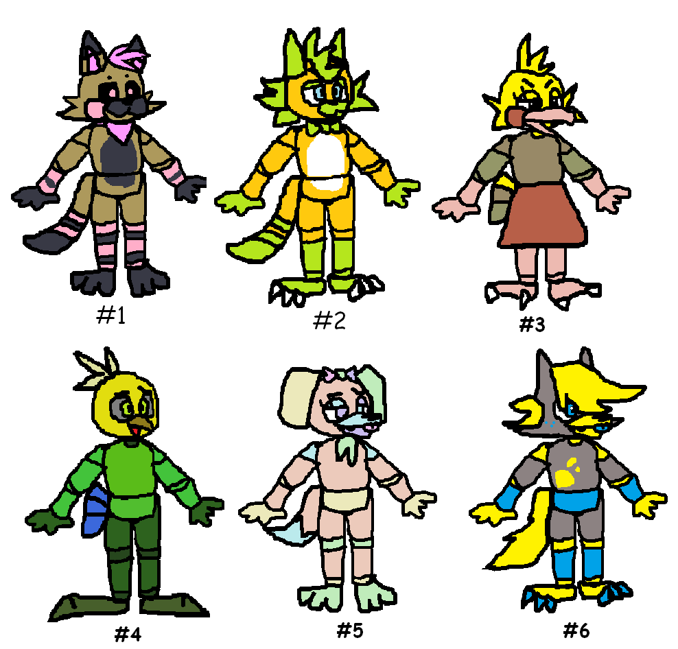 Fnaf adopts!! Cheap -- Batch 5 (CLOSED) by SonicLover1523