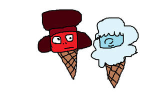Ruby and Sapphrie ice cream