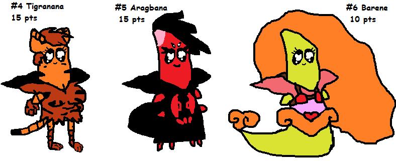 Banana woman adoptables -- cheap!! -- Set 2 (open) by SonicLover1523