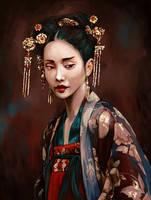 Woman with Hanfu