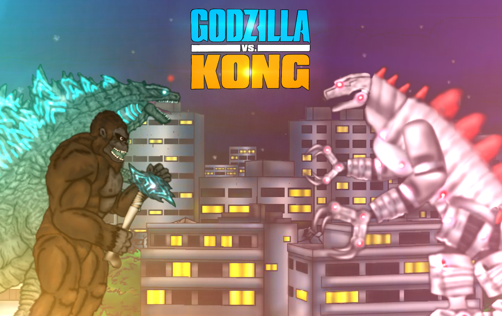 Gdkbr Godzilla Vs Kong 2021 With Mechagodzilla By Lordsuttonofsin On Deviantart
