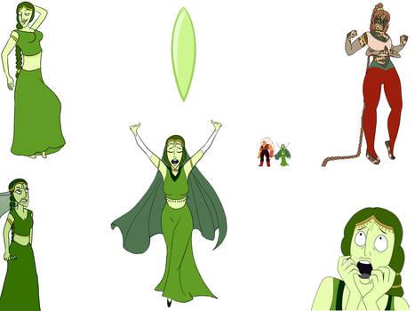Steven Universe OC sketchdump: Prehnite