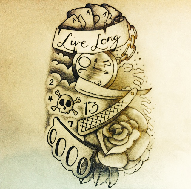 New School Tattoo Design By Robbutler33 On