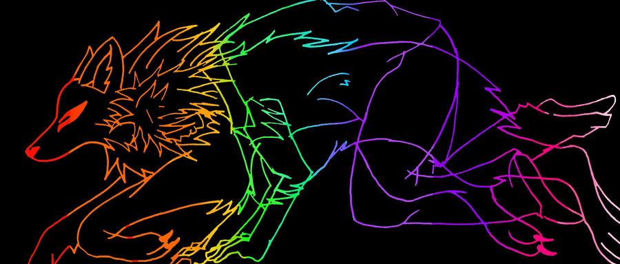 Rainbow Wolf Spirit By Lucifeepansy On DeviantArt