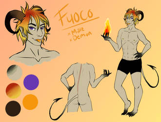 Fuoco refsheet by smirsdraw
