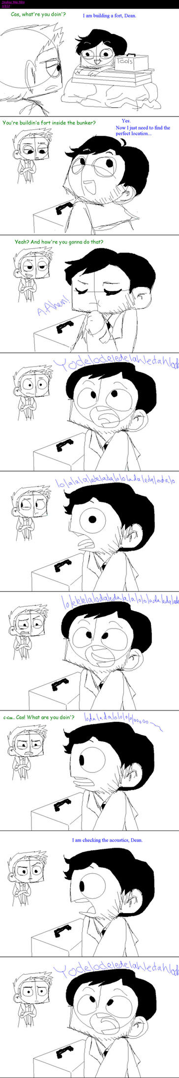 How to Build a Fort: Castiel Style by Strabius