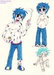 2D Just Being a Shirtless Goofball