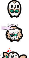 Rowlet bby by Strabius