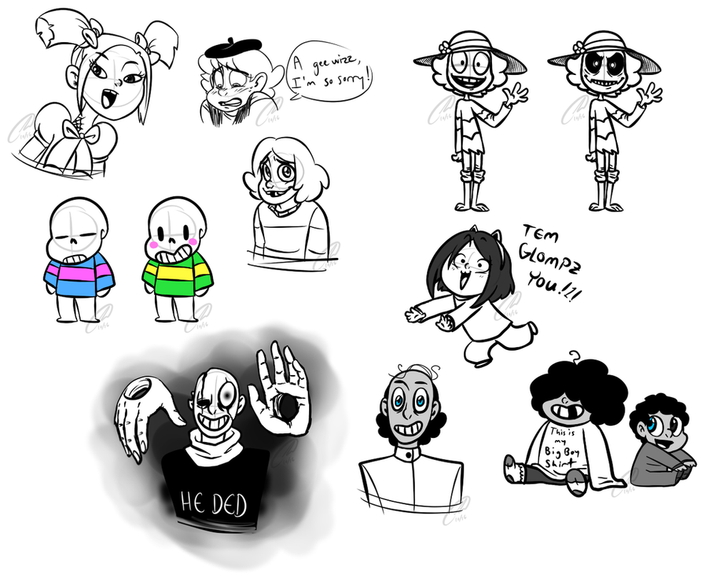 More Undertale Human Doodles By Strabius On DeviantArt