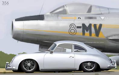 Porsche 356 by Ophideus