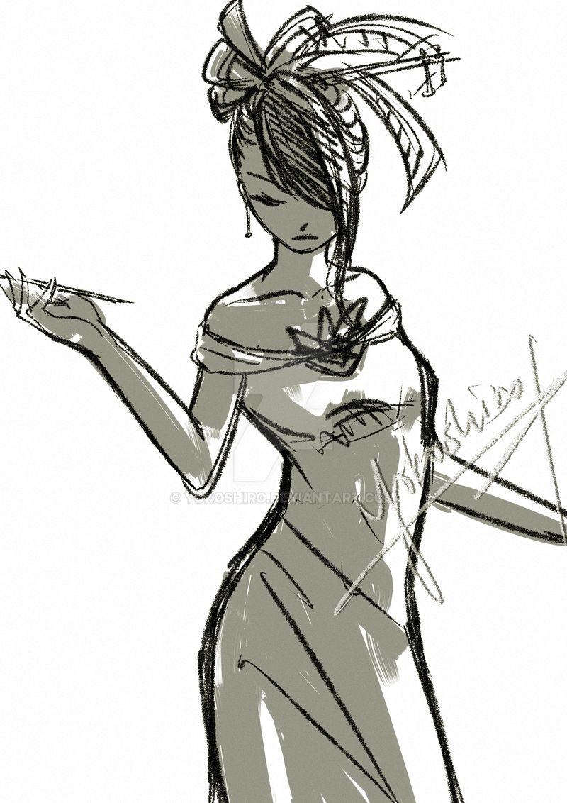 Sketch figure by Yokoshiro