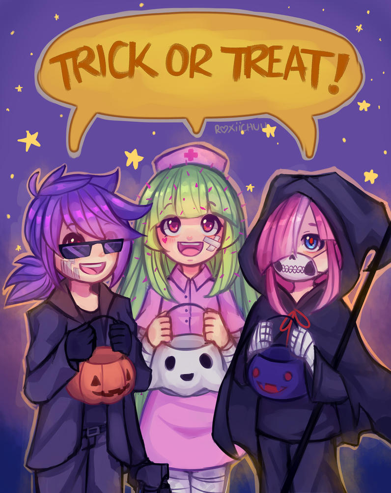Trick or treat - leemuel01 | deviantart | Literature club