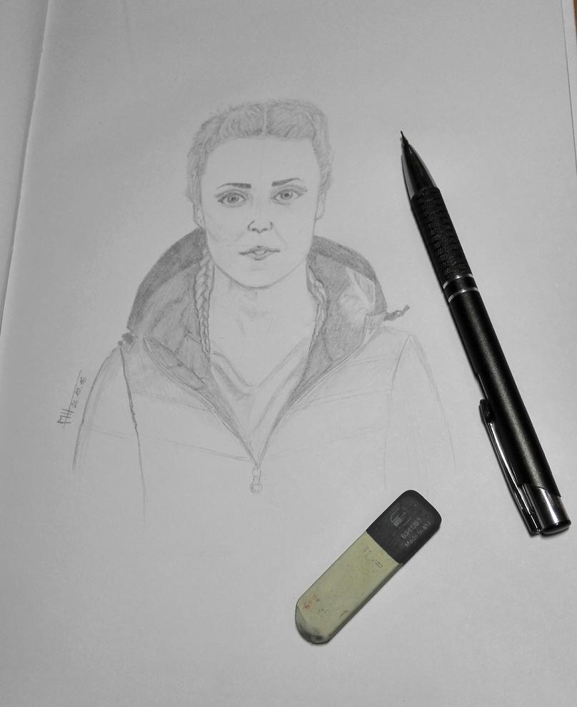 Katie McDonnell - portrait sketch by Mesrt99